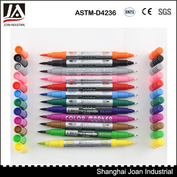 Crafts colour double metallic marker pens