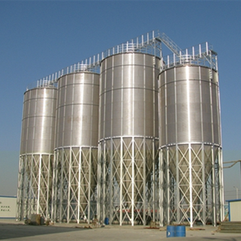 rice bran storage silo with 60 degree hopper