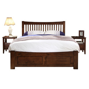Boseng Modern real wood double bed design-2
