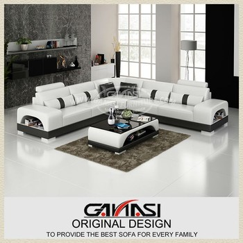 Corner Multi Sofa Italy Leather Factory Furniture Post Modern Style