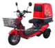 High quality cargo fast food three 3 wheel adult electric delivery scooter