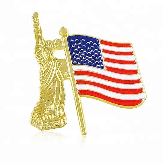 Country national flag metal lapel pin badge