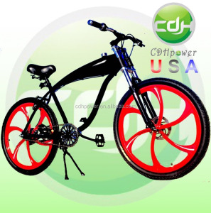 CDH Motorized Bicycle with Mag Wheel, Gasoline Engine Bicycle, Gas Bike 26inch built in 2.4L gas frame/ gasoline bicycle