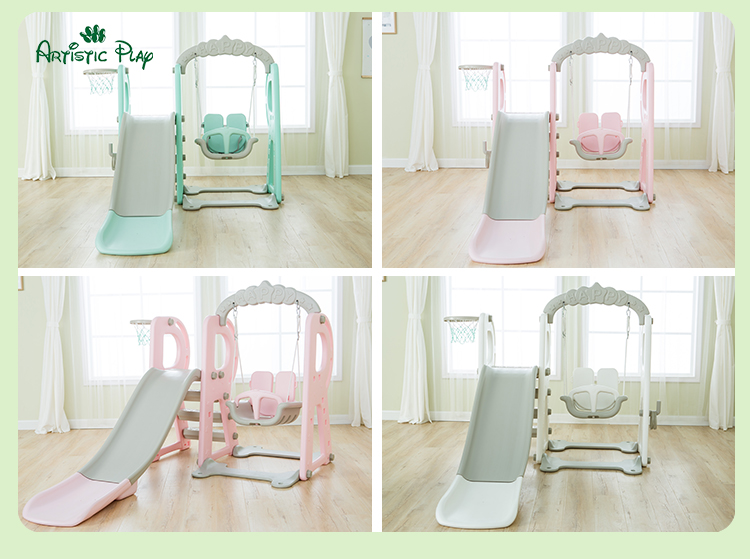 Factory custom mini indoor combination slide for kids