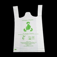 Factory cost super market garbage t-shirt shopping bag