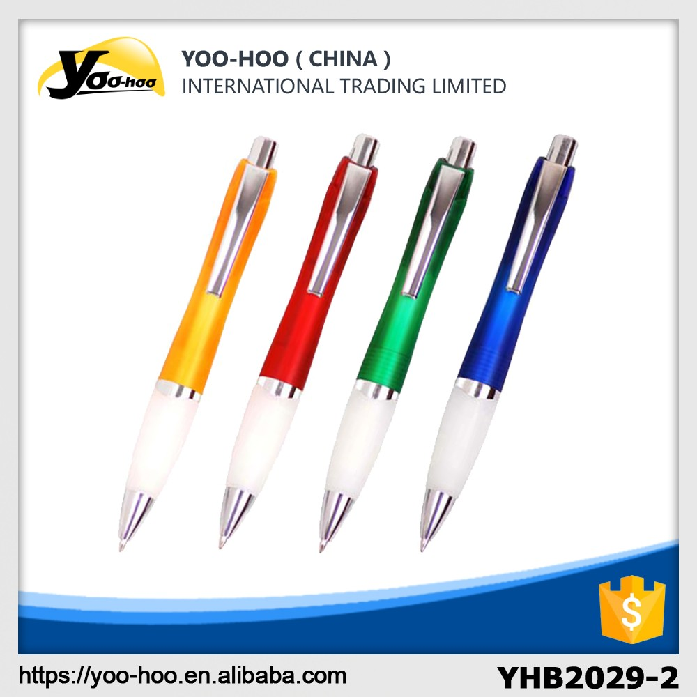 2016 new design promotional Plastic ball pen with clip for office