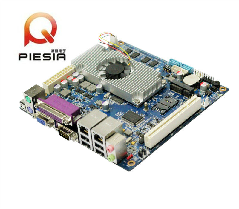 x86 embedded system mainboard Fanless design industry motherboard with Onboard 1333MHz DDR3 4GB,2 lan SBC for Monitoring System