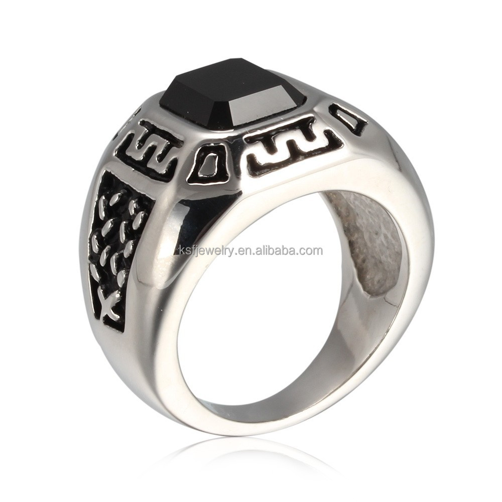 Champion ring black agate stone ring enamel ring new product 2015