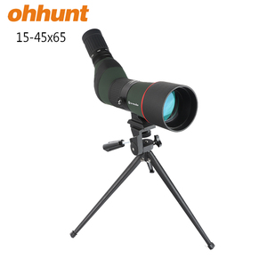 Hunting Zoom Monocular Telescope JOUFOU 15-45X65 BAK4 Prism HD Spotting Scope For Birdwatching