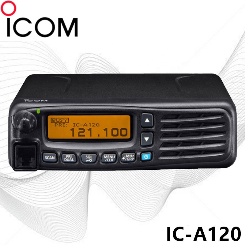 35watt IC-A120 VHF Airband Transceiver Radio Mobile Mount Unit 118-136 MHZ Airport Mobile radio long range 35 km portable