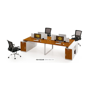 Accountant Office Desk with Divider Partition Boards (FOH-R3214B)