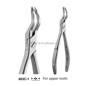 Dental Adults Tooth Forceps 663C-1 For Upper Roots