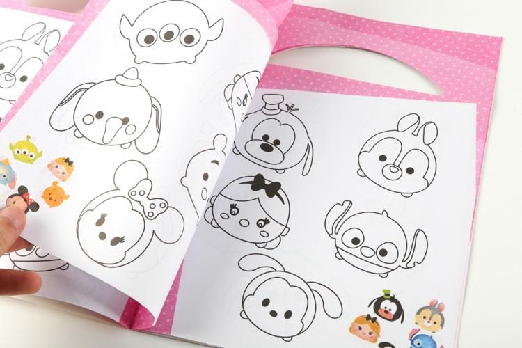Dibujos Tsum Tsum Dibujos Para Colorear: Tsum Tsum Pegatina De Dibujos Animados