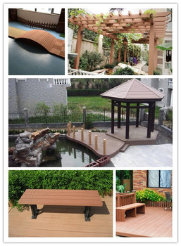 Environmental Weather Resistant Wood Plastic WPC Wooden Garden Trestles,  Trestle Legs Wood