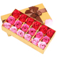 Wholesale custom luxury cardboard square gift flower packaging box for preserved roses