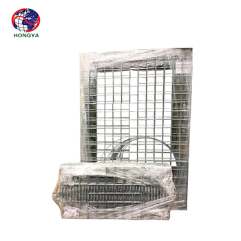 60*80mm galvanized welded gabion cage for building exterior wall