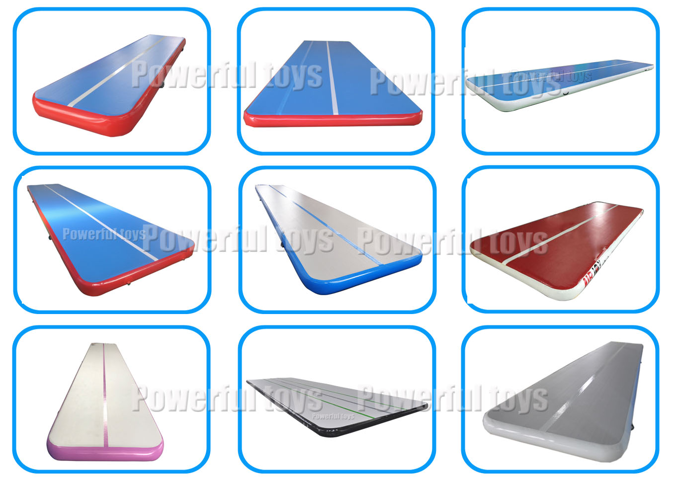 Customized  air track inflatable airtrack sample for sale
