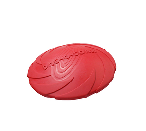 Dog toy pet training cyber rubber flying saucer interactive toy suitable for small medium or large dogs outdoor flight