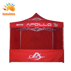 Custom design outdoor full back wall 10X10ft folding tent for the big event