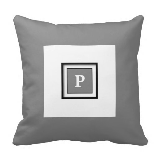 Tall Gray Framed Classy Pillow Case (Size: 45x45cm) Free Shipping