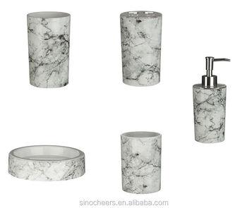 Rome Tumbler Marble Effect ABS Plastic Bathroom Accessories Modern Design