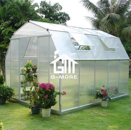 G-MORE Top Quality Premium EURO/USA Standard Aluminum Greenhouse / 8'x10' 4 Season Garden Greenhouse Serre