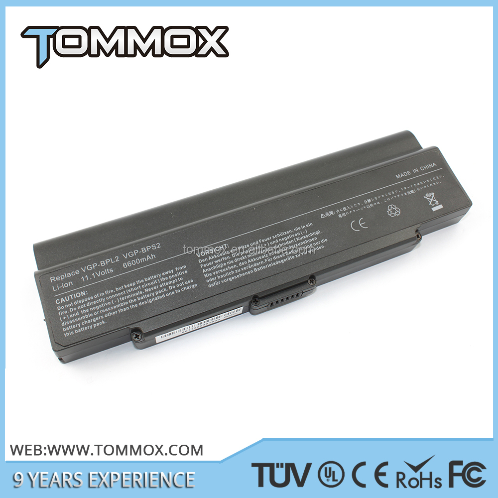 reliable notebook battery replace For SONY BPL2 PCGA-BP2NX PCGA-BP2NY PCG-K76P