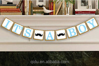 It's A Boy Or It's A Girl Bunting Banner Paper Garland Baby Shower Party Hanging Decor