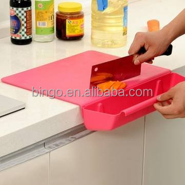 kitchen tool cutting board with container