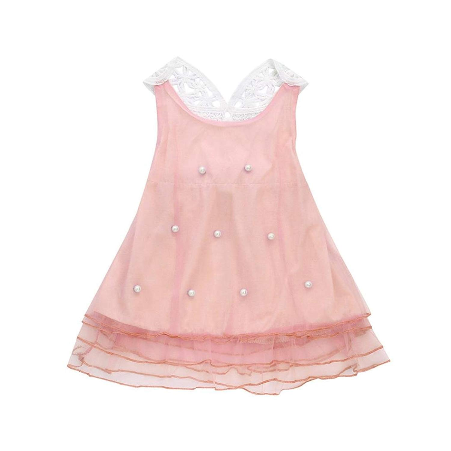 5d1dacc5f Get Quotations · Elevin(TM) Toddle Tutu Skirt Kid Baby Girl Sleeveless Bead  Summer Lace Dresses Sunsuit