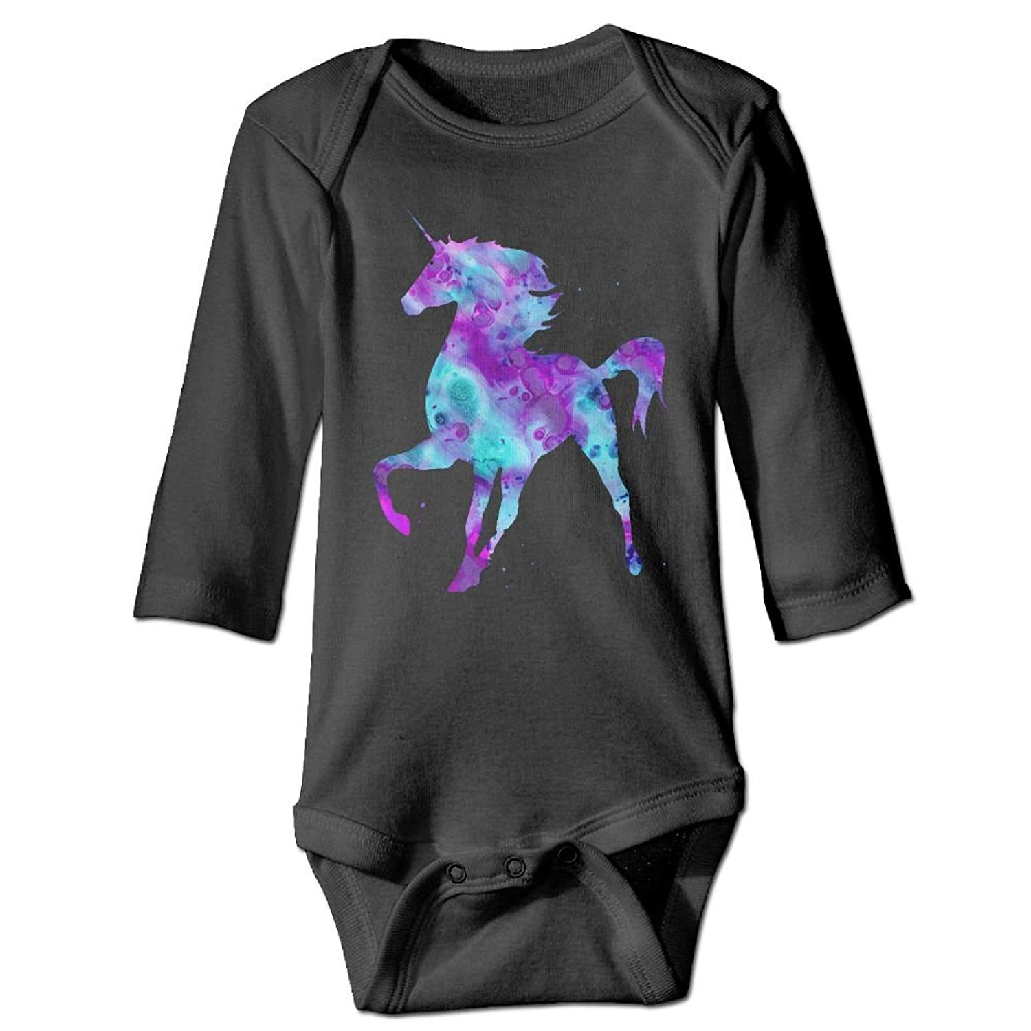 86dded4bb7b Get Quotations · Guw Rompers Art Unicorn Baby Long Sleeve Multiple Colors  Bodysuits Organic Cotton Pajamas Bodysuits