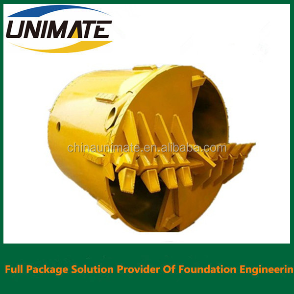 Manufacturer Match For Casagrande Bore Pile Rig Soil And Rock Drilling Bucket With Bullet Flat Teeth B47K22H BFZ72