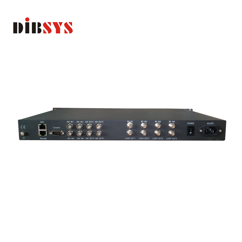 Low cost professional 4 in 1 IRD for satellite digital TV broadcast