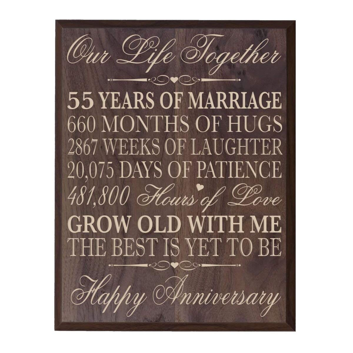 Get Quotations 55th Wedding Anniversary Wall Plaque Gifts For Custom Made Her