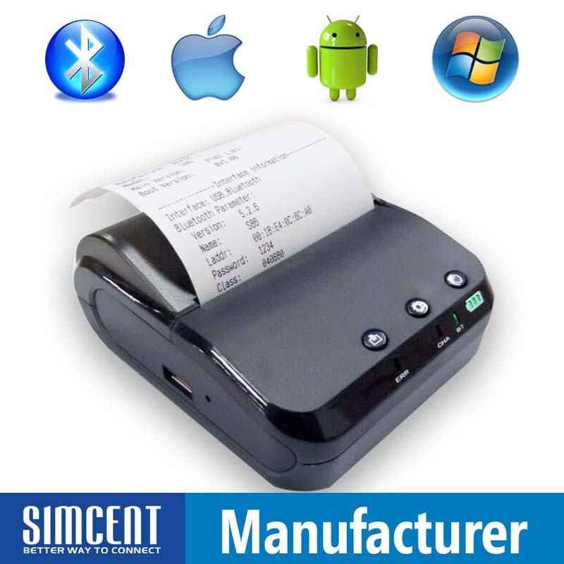 android and ios bluetooth pos thermal printer 80mm