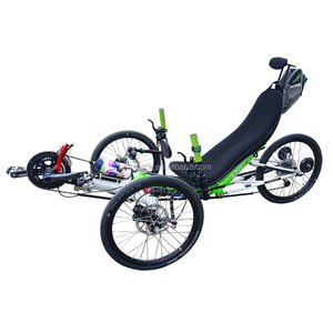 Small Touring Aluminum Alloy Frame 20 Inch Wheel  Fully Folding Recumbent Trike Foldable Bicycle