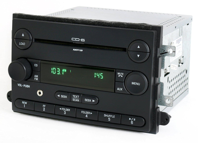 Ford Fusion Mercury Milan 2007 Radio AM FM CD 6 Disc w Aux Input 7E5T-18C815-AE