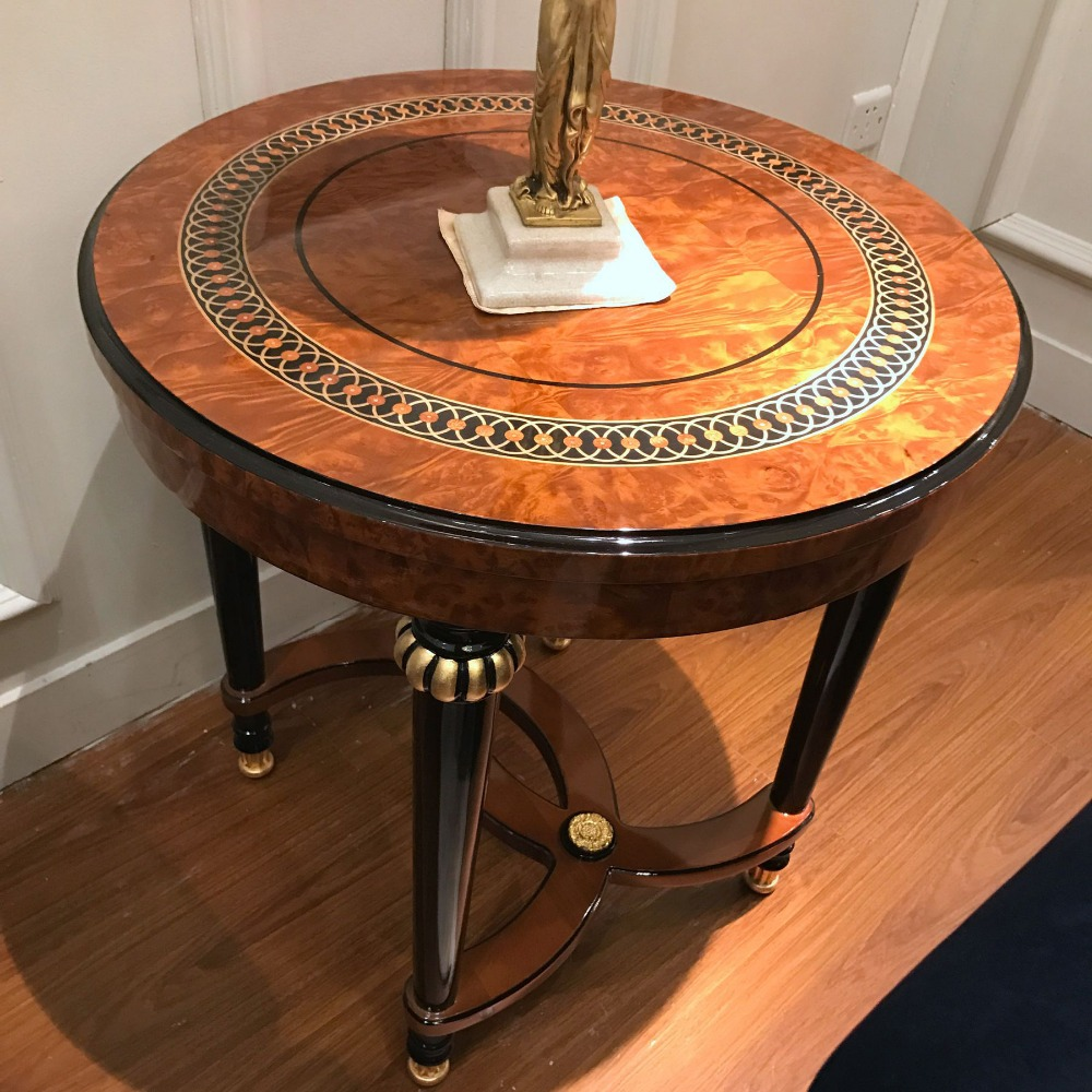 - Yb69 Round Antique Hand Carved Coffee Table/round Coffee Table