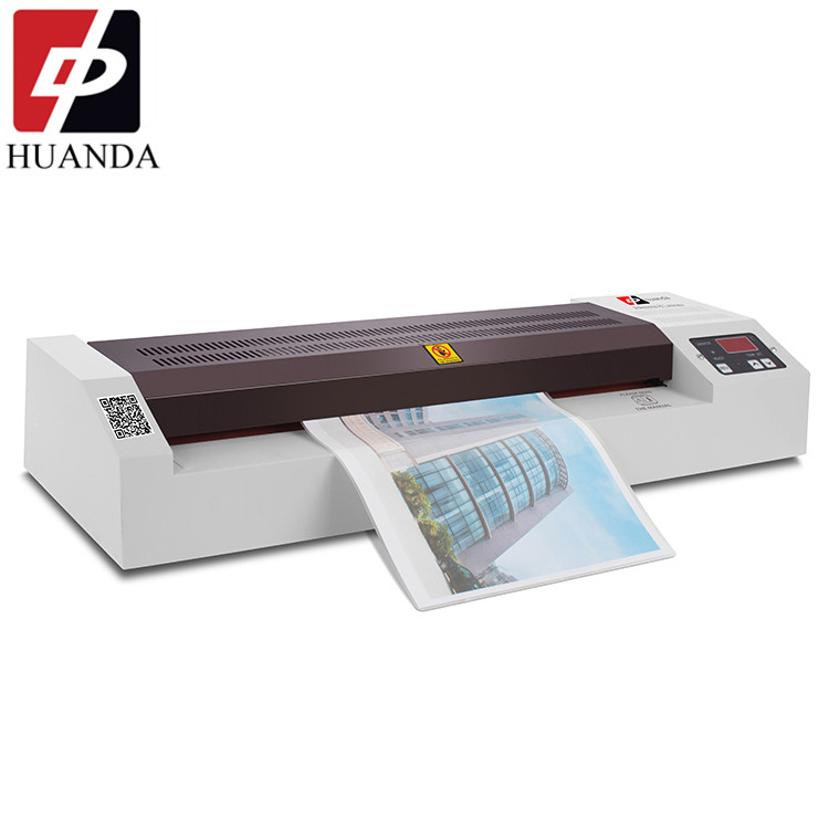HD-460B A3 A4 450mm A3 Size Laminating Machine, A3 Hot Cold Document Pouch Laminator