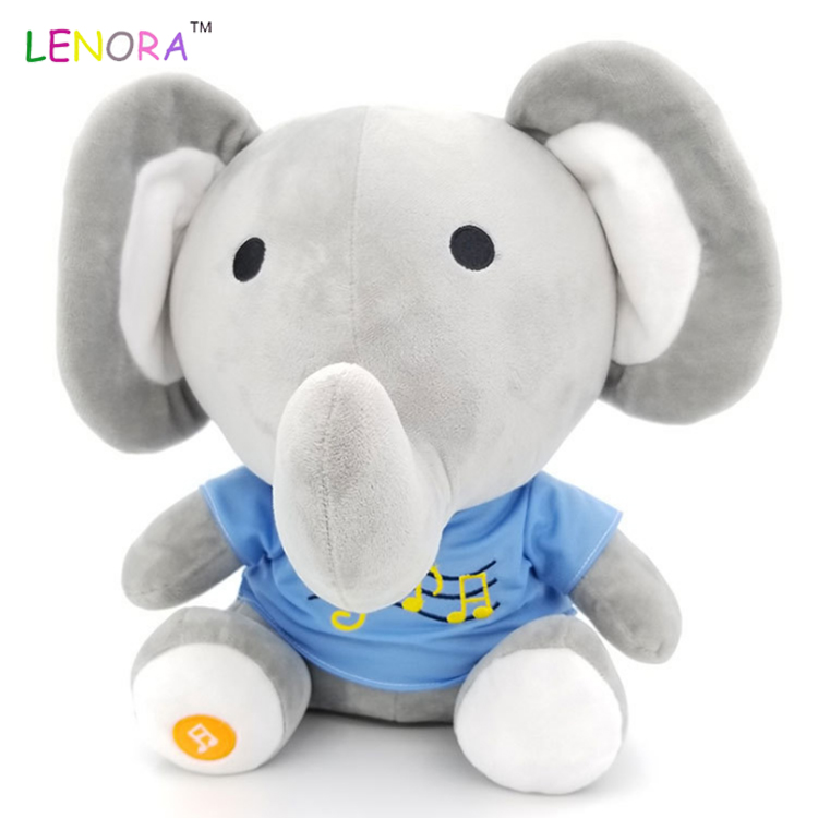 Promotion Mini T Shirt Elephant With Embroidery Baby Plush Toy