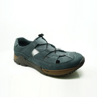 unique and useful design elastic lace thick rubber sole leather upper with breathable holes summer casual shoes for men