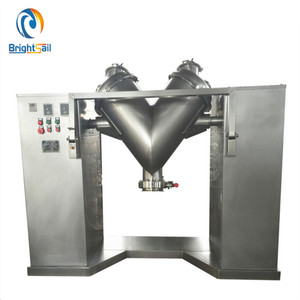 V type industrial powder mixer rotating drum powder mixer