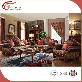 China Supplier Living Room Furniture Luxury Sofa Set French Style Clic