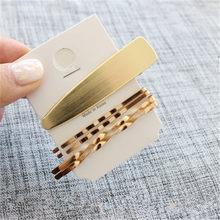 Женская заколка для волос AOMU, 1 комплект, металлическая, Геометрическая, Золотая шпилька, аксессуары для волос с жемчугом(Китай)