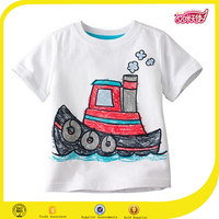 2016 baby boy clothes tee shirts kids white kids tshirt printing children clothing overseas blank child tanks
