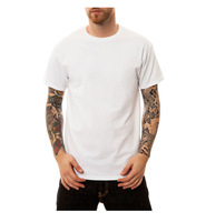 RETON Pima Cotton Plain Custom Blank Men White T Shirts