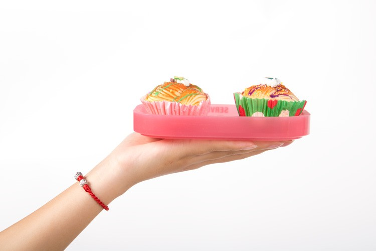 Customized Reusable silicone Plates 5 Compartment Plate Disposable