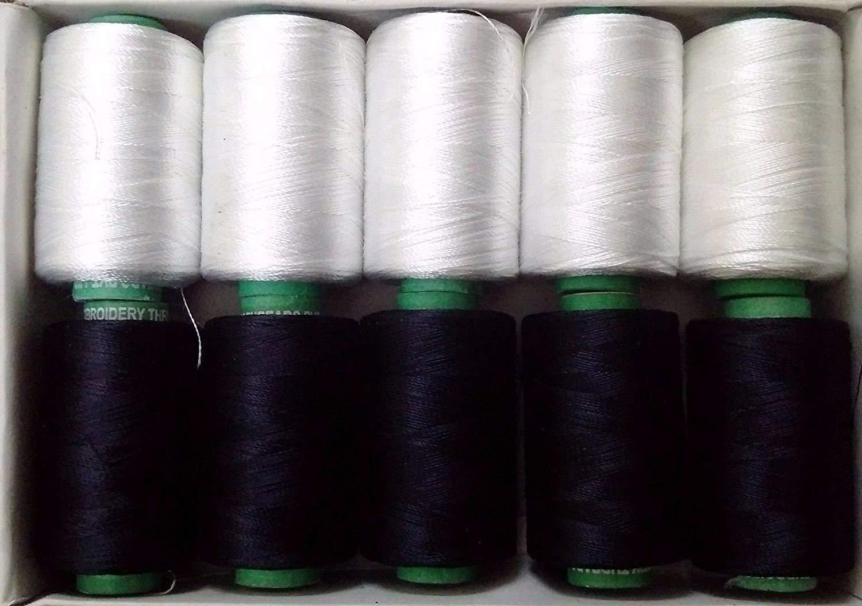 LOT SET of 10-150//2 Denier Viscose Rayon Thread Yarn Hand Machine Embroidery