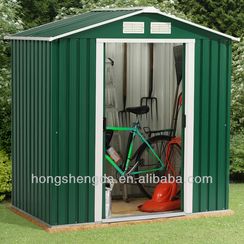 Portable steel frame outdoor garden shed / storage