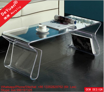 PMMA Clear Acrylic Office Desk For Home Decoration